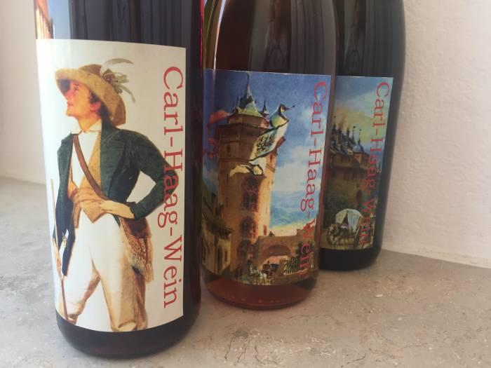 Weinetiketten Motive von Carl Haag